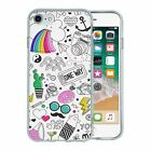 For Apple iPhone 8 Silicone Case 80s Pattern - S3015