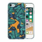 For Apple iPhone 8 Silicone Case Leaf illustration Pattern - S271