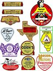vintage era  OLD SCHOOL MOTORCYCLE DEALERS DECAL $6.68 CAD on eBay
