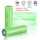 Batteries 2600mAh 18650 Rechargeable 3.7V Flat Top Battery+Case With USB Charger