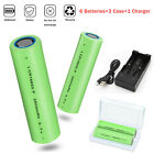 Batteries 2600mAh 18650 Rechargeable 3.7V Flat Top RC Battery With Case /Charger <br/> US Seller◆Flat Top◆Overcharge&Overdischarge Protection
