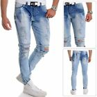 Cipo & Baxx Men's Distressed Jeans Ripped Denim Washed out Blue 32L Slim Fit