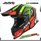 CASCO JUST CROSS ENDURO JUST1 J12 VECTOR RED LIME CARBON 2019 TAGLIA S