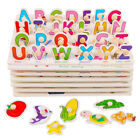 Kids imagine Toys Wooden Animal Letter Puzzle Jigsaw Early Learning Educational