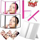 8 LEDs Lighted Portable Tri-Fold Travel Mirror Compact for Cosmetic Makeup MA