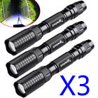 3pcs Garberiel 90000 Lumen 5 Modes T6 Zoomable 18650 LED Flashlight Torch USA