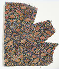 18-19C Persian Textile Fragment - Silk Embroidery, Floral Pattern, Islam