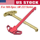 AR 223 Mil-Spec Charging Handle RED Metal Ambidextrous AMBI Handle Accessory