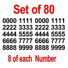 Set Of 80 Numbers / Vinyl Stickers - Premium Grade Vinyl - Select Color / Size