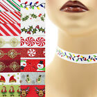 Christmas Choker 5/8 inch Custom Necklace 16 mm winter holiday designs red green