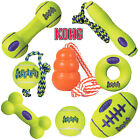 KONG Airdog Squeak Ball Air Dog Rope Fetch Stick Football Dumbell Yellow Aqua