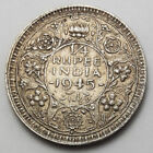 BRITSH INDIA 1/4 QUARTER RUPEE SILVER KING GEORG VI 1945 XF
