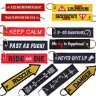 Remove Insert Before Flight Key Chain Tag Motorcycles Embroidery Sport Key Rings