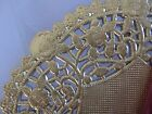 """4"""" 5"""" 6"""" 8"""" 10"""" 12"""" INCH GOLD PAPER LACE DOILY SHINY 10 25 50 100 low cost ship"""