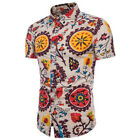 US Men's Hawaiian Shirt Pants Summer Floral Printed Beach Shorts Sleeve Tops Tee