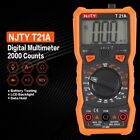 Digital Multimeter NJTY T21A BC/AC Volt Amp Ohm Biode NCV Mini Multitester B4