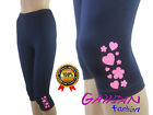 Girls Glitte 3/4 Length Cropped Leggings Cotton Summer age 4M to 14 Years Baby