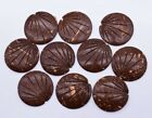 Brown Round Carved Cabochon Crafts Jewelry Making 25 Mm Vintage