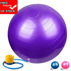 65cm Exercise Ball Pilates Yoga Exercise Stability Ball Pump Pregnancy Birthing image