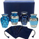 Classic Blue Forever Remembered Durable Cremation Keepsake Urns for Human Ashes