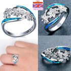 Womens 925 Sterling Silver 3 Flowers Rings Wedding Engagement Jewelry Rings