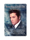 Midsouth Products Elvis Presley 8x11.5 Tin Sign How Great Thou Art with Lyrics
