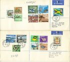 JAMACIA 1964-68 DEFINS TO £1 & 1969 C-DAY (CURRENCY DAY) TO £1  ON (4) COVERS