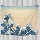Big Sea Waves Pil Painting Hippie Tapestry Wall Hanging for Bedroom Living Room