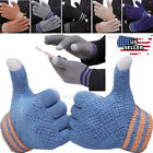 1/2/4Pir Men Women Winter Gloves Touch Screen Warm Thick Knit Thermal Insulated