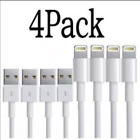4 Pack Lightning USB Charger Cable For Original Genuine OEM Apple iPhone X 8 7 6