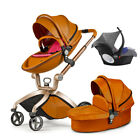 Hot mom Baby Stroller 3 in 1 Carriage buggy Bassinet Combo Pushchair&car seat