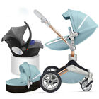 Hot mom 3 in 1 Baby Stroller 360 Rotation high view Bassinet Pushchair&car seat