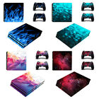 'Playstation 4 Pro Console Skin Vinyl Stickers + 2 Controller Skins Ps4 Pro Decal