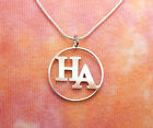 HA Necklace, Heroin Anonymous Addiction Recovery 12-step Stay Clean Pendant Gift