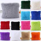 Winter Fur Plush Square Throw Pillow Case Sofa Waist Cushion Cover Home Decor~