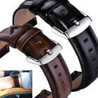 18 20 22mm Quick Release Retro Leather Watch Band Wrist Strap For Fossil Watch image