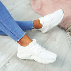 WOMENS LADIES RUNNING SNEAKERS LACE UP MESH TRAINERS PLIMSOLL GYM SHOES SIZE