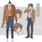 Rascal Does Not Dream Bunny Girl Senpai Cosplay Kostüm Sakuta Schul Uniform B