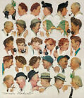 "30W""x36H"" GOSSIPS by NORMAN ROCKWELL - CHITCHAT BLABBER MOUTH CHOICES of CANVAS"