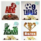 Sport Cake Topper Rugby Football Golf Cricket Birthday Boy Girl Any Name Colour