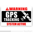Gps Tracking System Activated. Warning Sticker / Decal (st679)