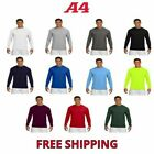 A4 Men's Cooling Performance Long Sleeve T-Shirt Dri-Fit L/S Tee Shirt S-3XL
