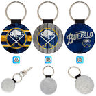 Buffalo Sabres Leather Glitter Key Chain Ring Gift Silver Car $3.99 USD on eBay