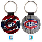Montreal Canadiens Leather Glitter Key Chain Ring Gift Silver Car $3.99 USD on eBay