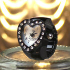 Colourful Gift table Women heart-shaped ring watch Fashion Cute Finger AccessoryRing Watches - 173698