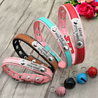 Personalized Dog Collar with Bell Free Engraved Pet Name Owner Phone XS S M