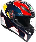 Full face helmet Agv K-1 K1 Pitlane blue red yellow double ring race track