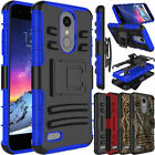For LG Aristo 3/Tribute Empire Armor Shockproof Hybrid Slim Stand Case Cover