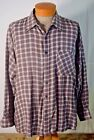 NUCCI EXCHANGE MENS GREY PLAID LONG SLEEVE SIZE XL FREE SHIPPING