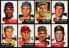 1953 Topps lot of 16 cards VG